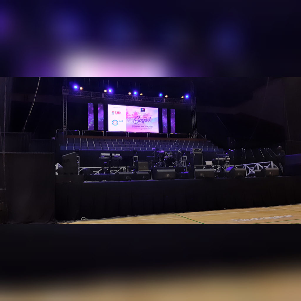 Barbados Gospelfest 2019 Ultimate Gospel Stage Set Up